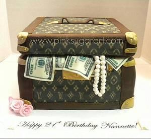 Louis Vuitton Cosmetic Case Cake - Cake by PinkSugarArt