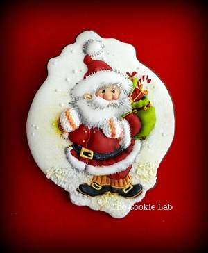 oh oh oh..... My Santa is coming to you! - Cake by The Cookie Lab  by Marta Torres