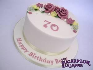 Simple 8 Inch 70th Birthday Cake - Cake by Sam Harrison
