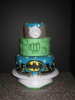 TMNT, Hulk, Batman cake - Cake by Norma Angelica Garcia