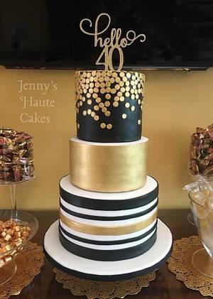 Hello 40 - Cake by Jenny Kennedy Jenny's Haute Cakes