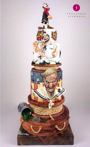 I REMEMBER WHEN....I WAS YOUNG - POPEYE - Cake by Francesca Speranza - Sugar Artist