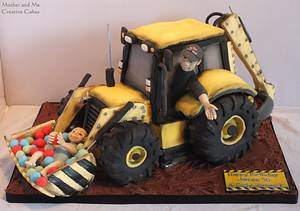 JCB cake - Cake by Mother and Me Creative Cakes