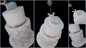 Moroccan themed Christening cake with baby elephant! - Cake by Veronika