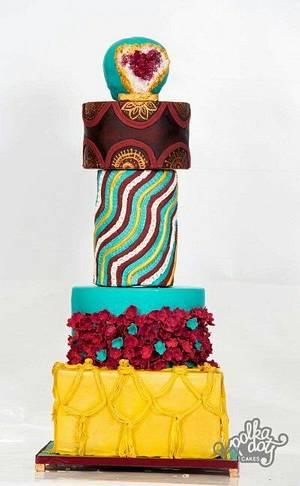 Modern wedding cake - Cake by Shikha