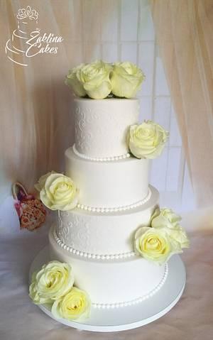 Elegant wedding cake - Cake by Zaklina