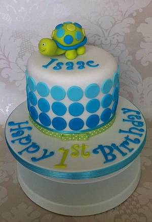 Turtle 1st Birthday cake - Cake by Carrie