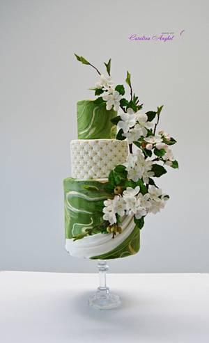 spring mood- apple blossoms cake - Cake by Catalina Anghel azúcar'arte