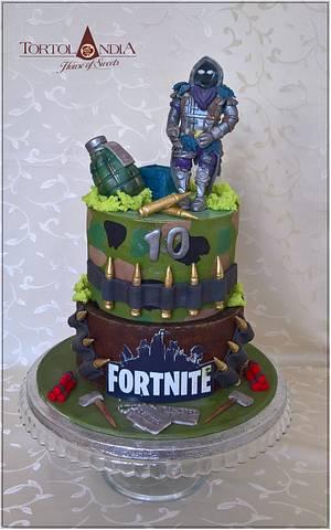 "Fortnite ""Raven"" for my son - Cake by Tortolandia"
