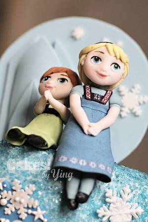 Frozen Little Elsa, Anna and Olaf cake toppers - Cake by Cakes! by Ying
