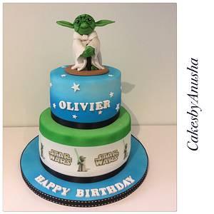 Star Wars Yoda. - Cake by CakesbyAnusha