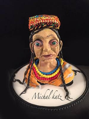 old kalash lady - Cake by michal katz