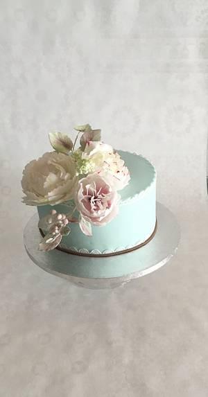 70th birthday 😊 - Cake by Kvety na tortu