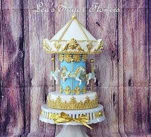 Carousel cake - Cake by Lea's Sugar Flowers