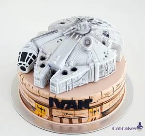 Millenium Falcon cake - Cake by Catcakes