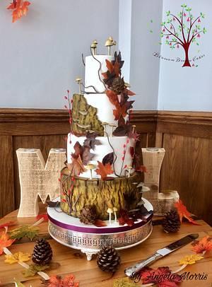 Autumn Wedding - Cake by Blossom Dream Cakes - Angela Morris