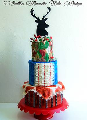 A Texan themed wedding cake - Cake by Savitha Alexander