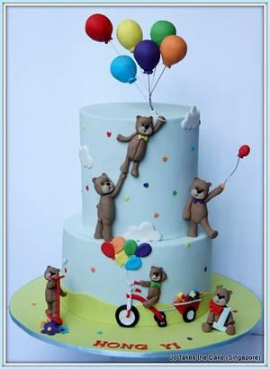 Teddy Bear & Balloons - Cake by Jo Finlayson (Jo Takes the Cake)