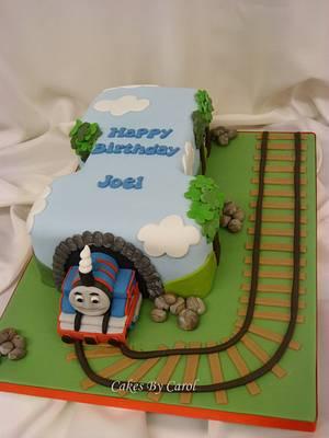 Thomas The Tank Engine No 1 - Cake by Carol