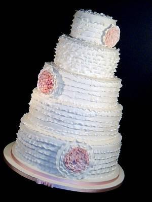 The Sugar Nursery - Mega Ruffle Wedding Cake - Cake by The Sugar Nursery - Cake Shop & Imaginarium