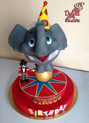 Circus birthday cake - Cake by Dulces con ilusion