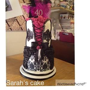 Burlesque themed cake - Cake by Sarah's cakes