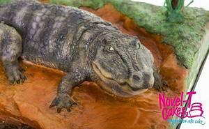 Crocodile cake - Cake by Novel-T Cakes