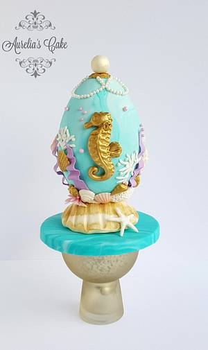 Under The Sea - Easter Faberge egg challenge by Bakerswood - Cake by Aurelia's Cake