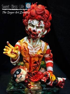 The Sugarart Zombies - Burger Zombies - Cake by Maggie Chan