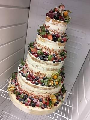 Semi naked cake - Cake by dortikyodjanicky
