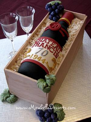 Wine bottle cake for my dad! - Cake by Mira - Mirabella Desserts