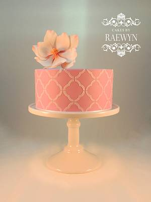 Magnolia and Sharp Edges - Cake by Raewyn Read Cake Design