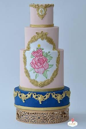 Baroque Rose - Cake by Joscakeboutique