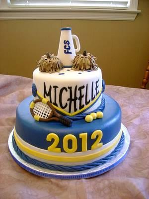 Cheerleader Graduation Cake - Cake by Theresa