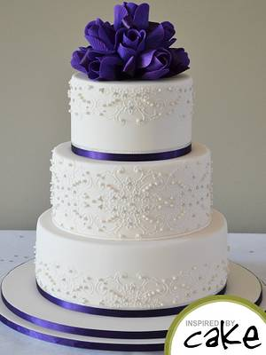 Purple and Piping - Cake by Inspired by Cake - Vanessa