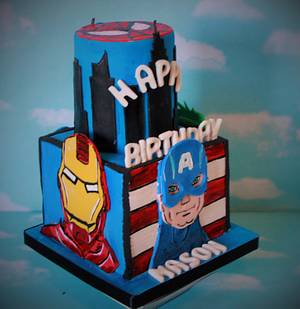 Avengers Call to Action! - Cake by Not Your Ordinary Cakes