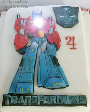 Bas Relief Optimus - Cake by Mother and Me Creative Cakes
