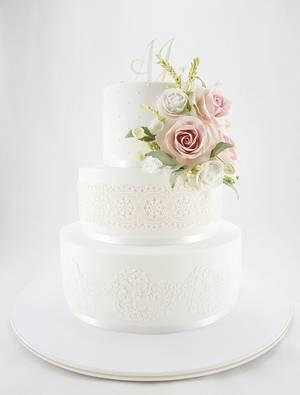 Torta de bodas  - Cake by Natalia Casaballe
