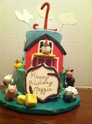 Maggie's Barn/Farm Cake - Cake by Maureen