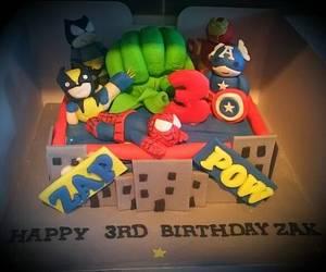 Marvel hero cake - Cake by Babbaloos Cakes