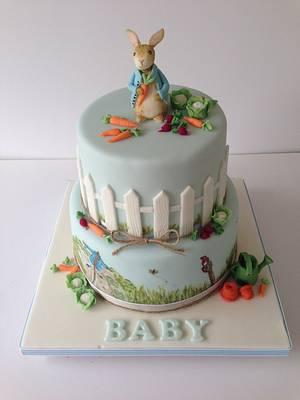 Peter Rabbit Baby Shower Cake  - Cake by The Rosebud Cake Company