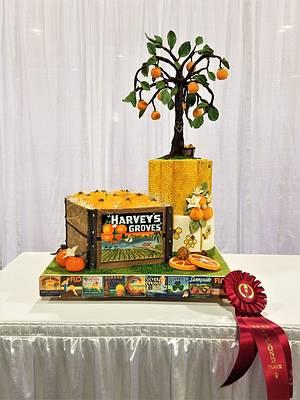 Under the Florida Sun - Florida oranges - Cake Fair 2017 - Cake by Tammy Mashburn