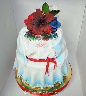 Embroidered shirt - Cake by Oksana Kliuiko