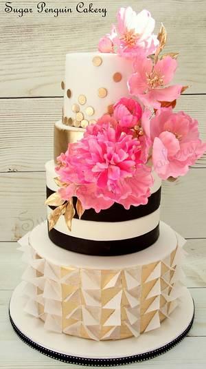 Kate Spade inspired Cake - Cake by Ivone - Sugar Penguin Cakery