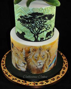 South African Wedding Cake - Cake by Calli Creations
