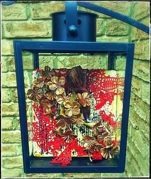 A lantern full of cherry blossoms Curiosity Shoppe Collaboration  - Cake by Danijela Lilchickcupcakes