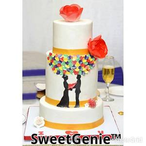 A beautiful wedding cake. - Cake by Comfort