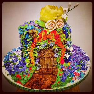 Enchanted garden - Cake by Danijela Lilchickcupcakes