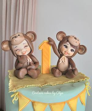 Cake for twins - Cake by Couture cakes by Olga