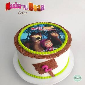 Torta Masha y el Oso - Cake by Dulcepastel.com